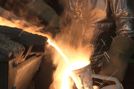 metal-pouring